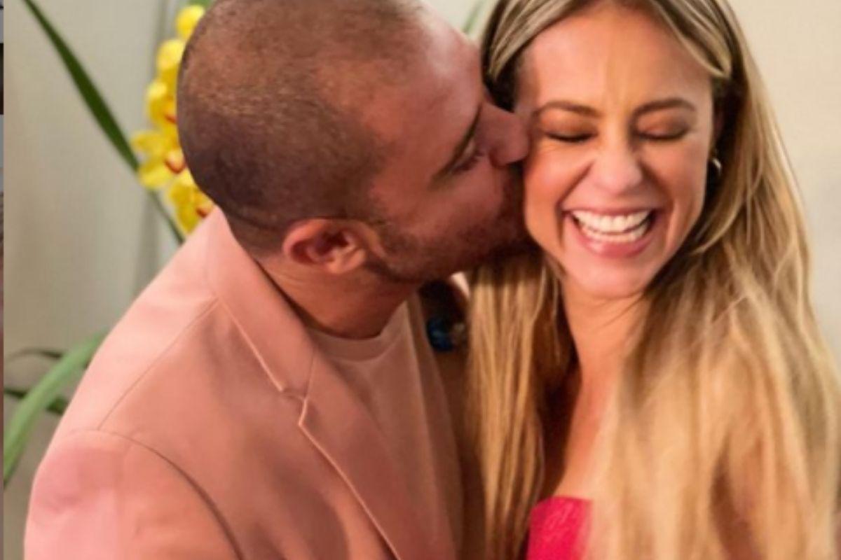 Diogo Nogueira beija Paloma Oliveira
