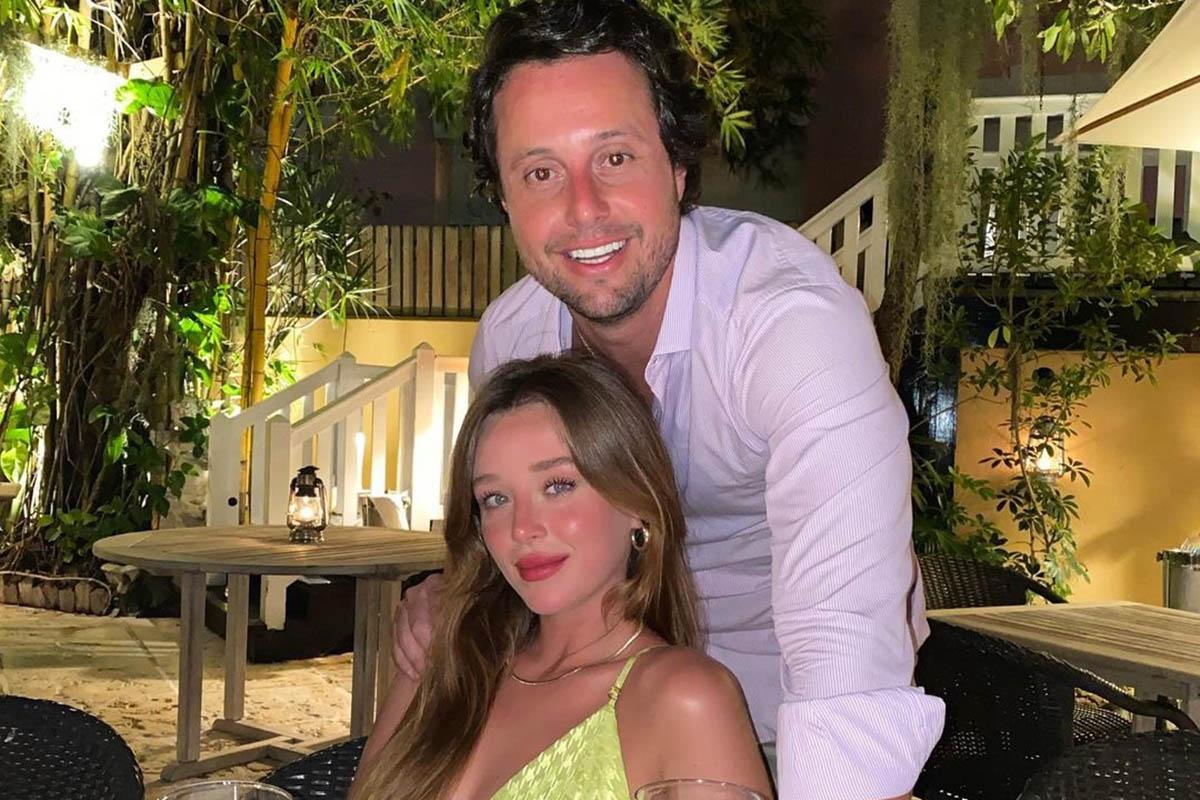 Duda Reis com o namorado Bruno Rudge