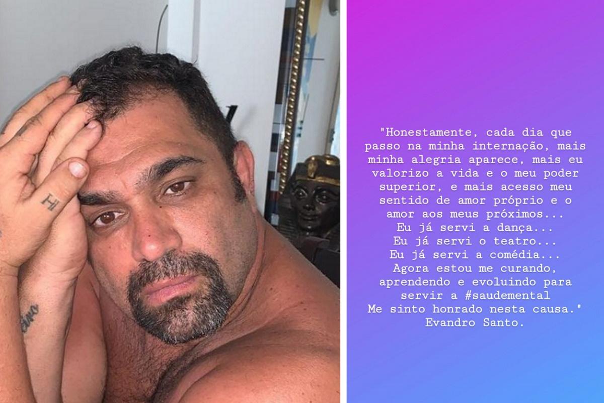 Postagem de Evandro Santo na web