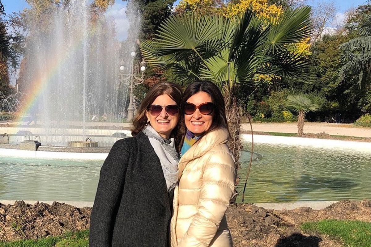 Fátima Bernardes com a irmã