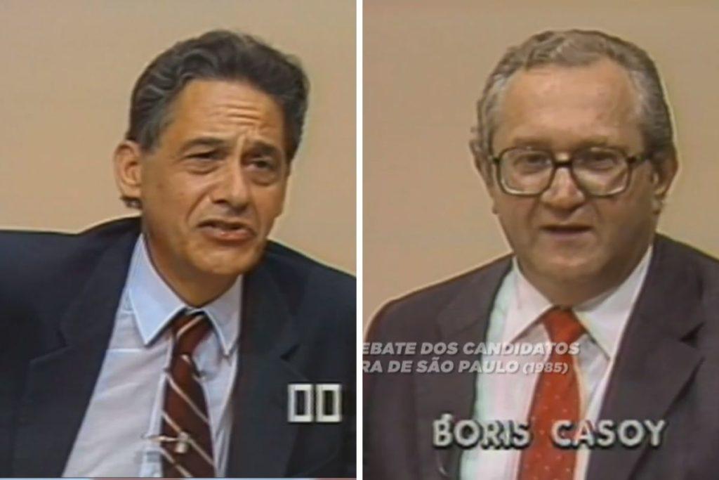 Fernando Henrique Cardoso e Boris Casoy - montagem