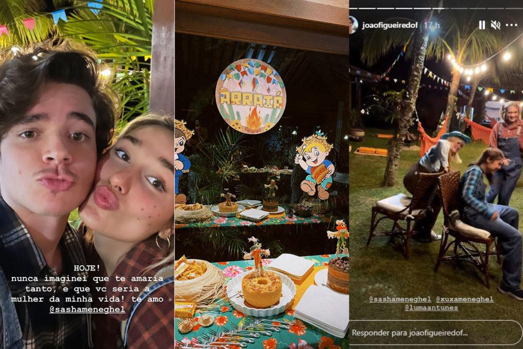Sasha Meneghel celebra aniversário com arraiá