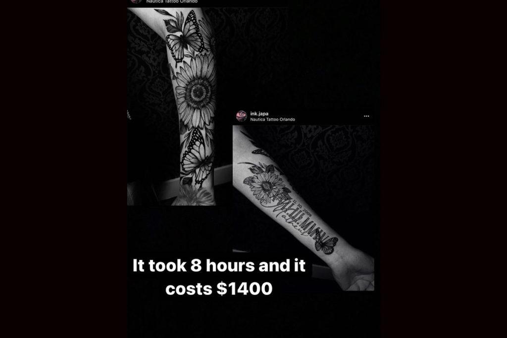 Camilly Victória revela preço de tatuagem