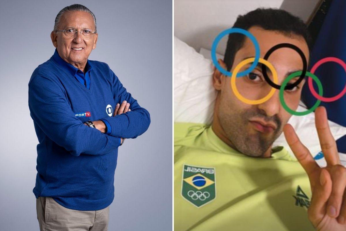 Galvão Bueno e Douglas Souza