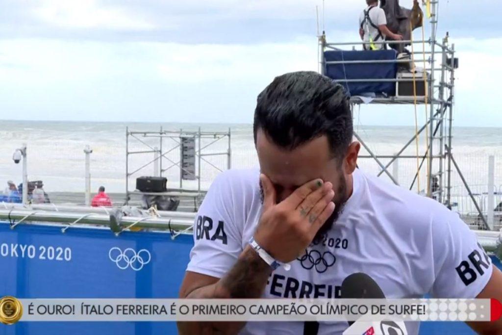 ìtalo Ferreira chorando