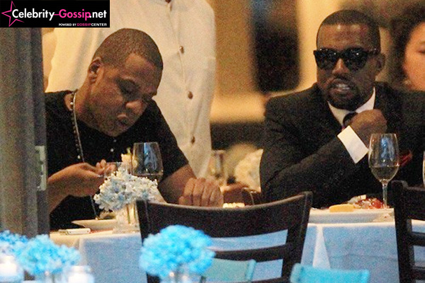 Jay Z e Kanye West juntos em restaurante