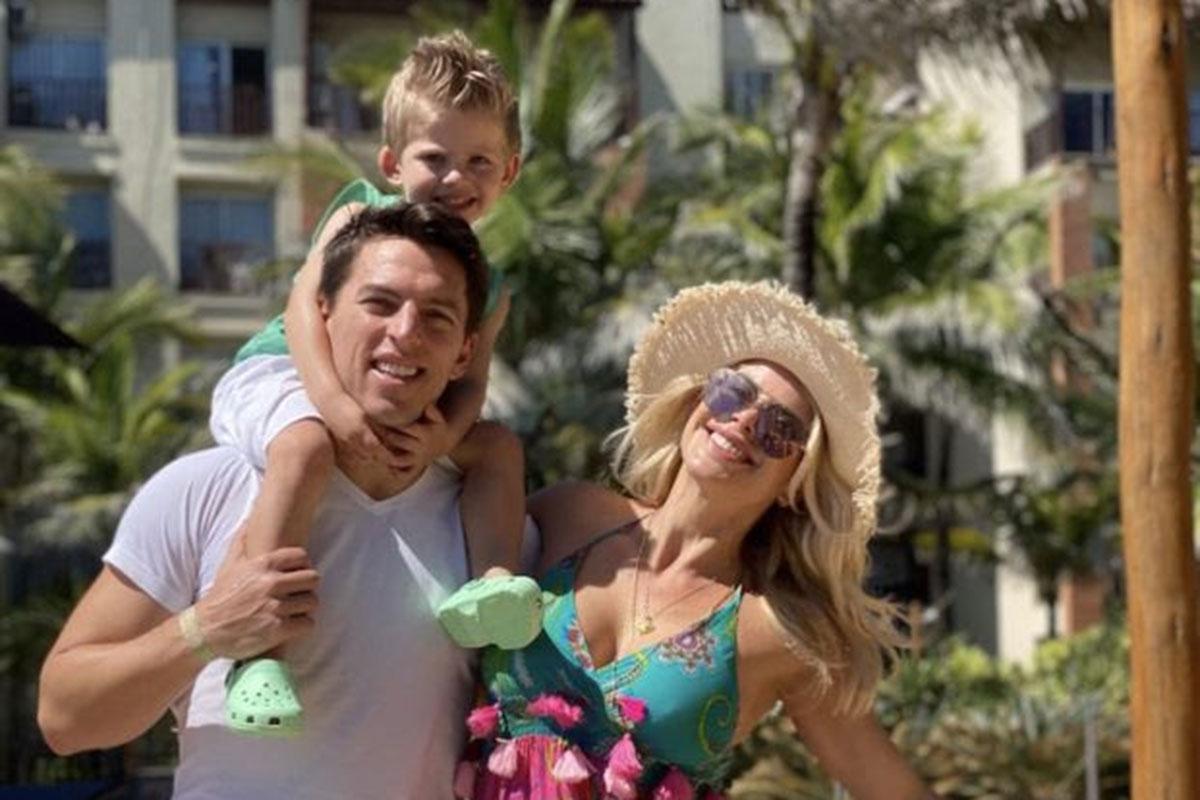 Karina Bacchi, Amaury Nunes e Enrico no Beach Park