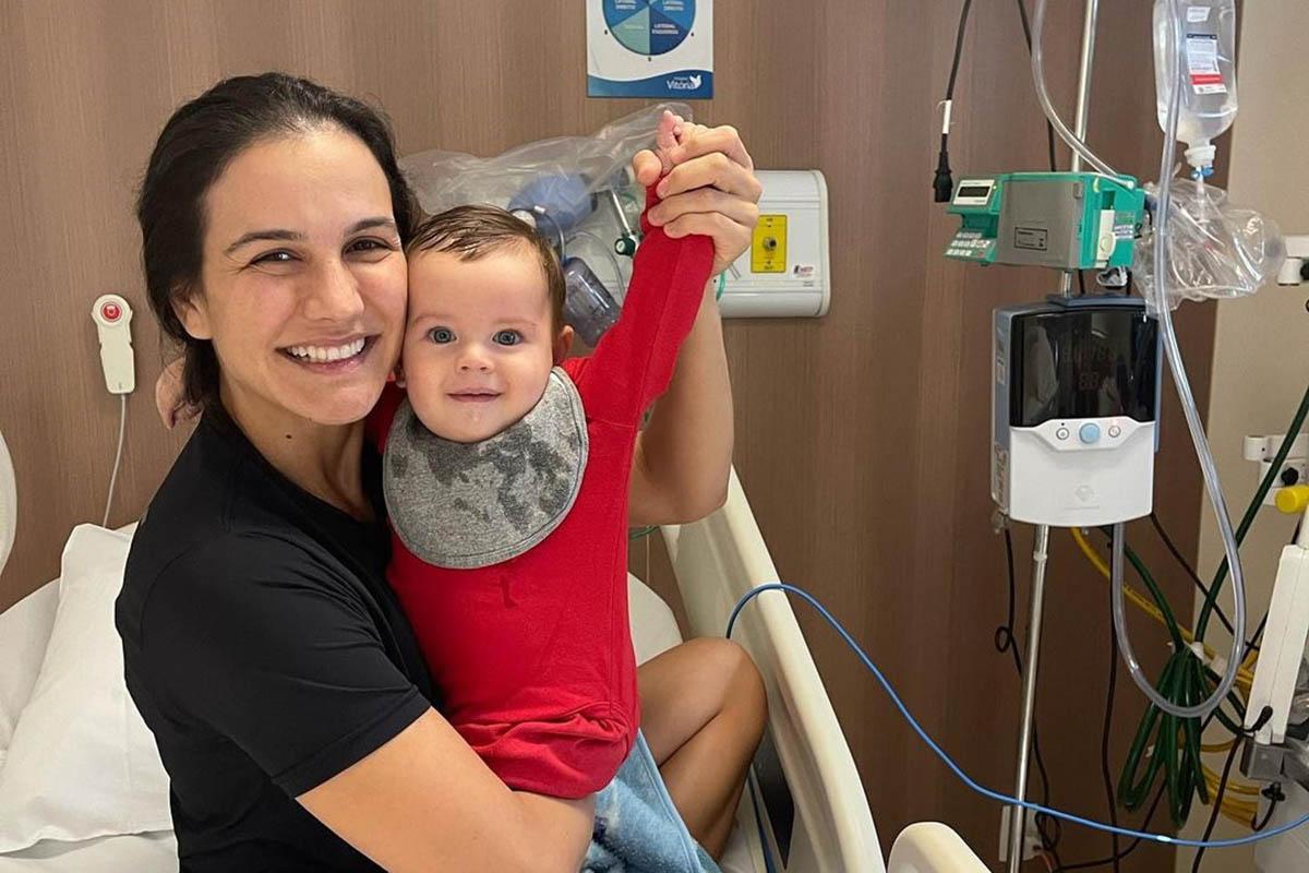 Kyra Gracie com o filho Rayan