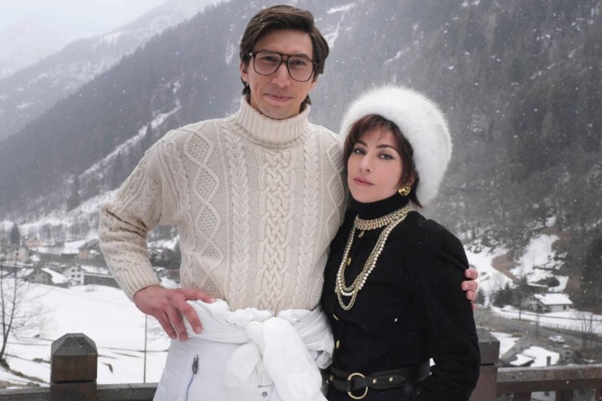 adam driver e lady gaga durante o filme house of gucci