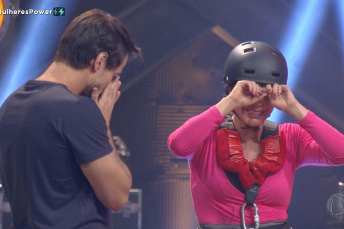 Leandro e Renata lamentam perda da prova