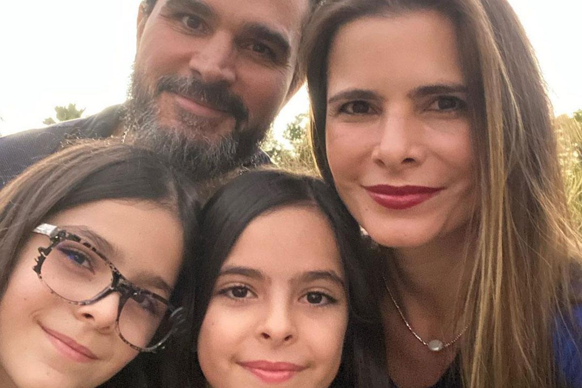 Luciano Camargo, Flavia Camargo e as filhas Isabella e Helena