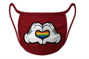 Máscara LGBTQIA+ da disney
