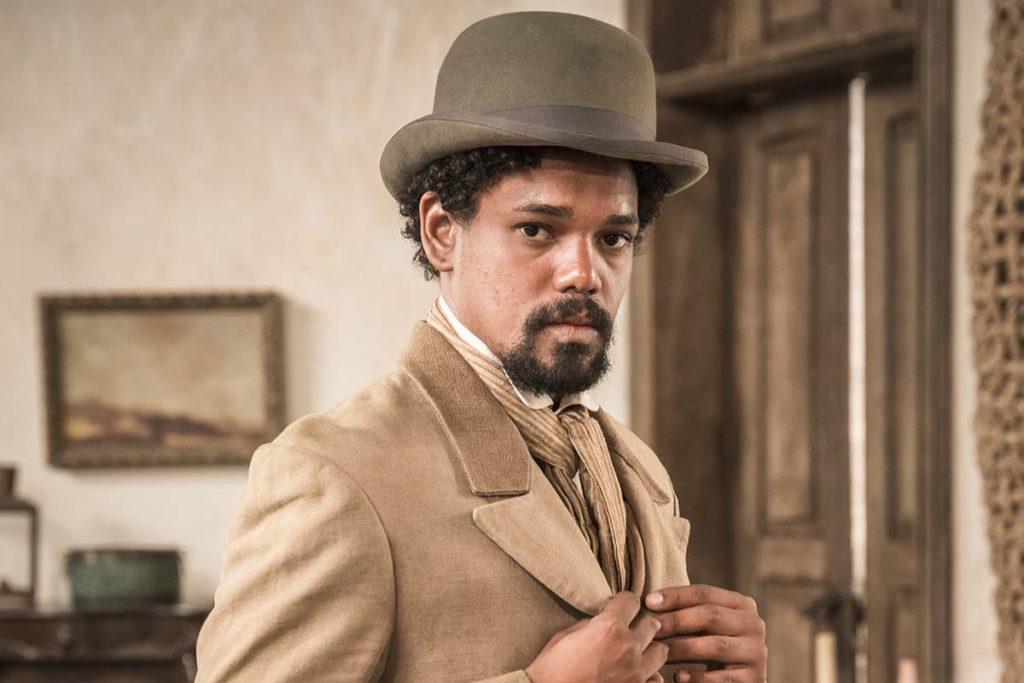 Michel Gomes, como Jorge/Samuel, em Nos Tempos do Imperador