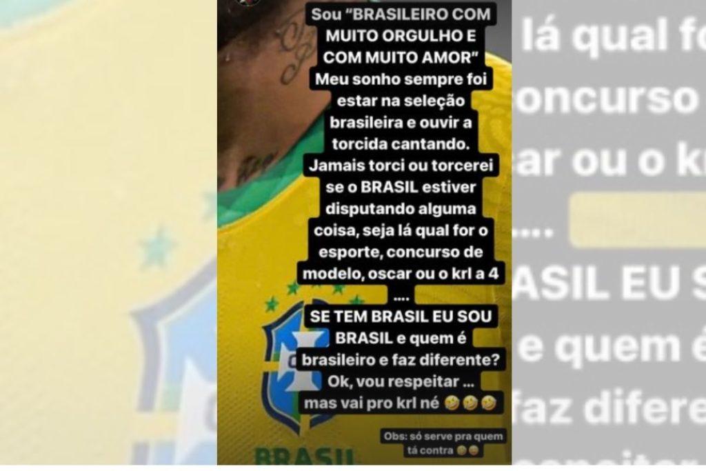 postagem de neymar no instagram