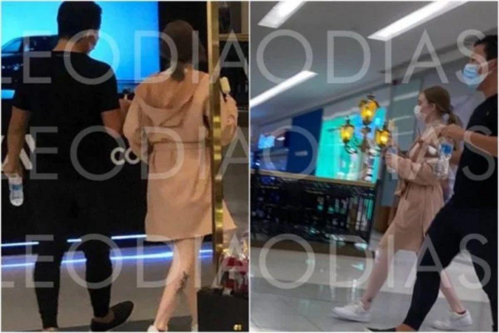Pyong e Sammy Lee andando no shopping