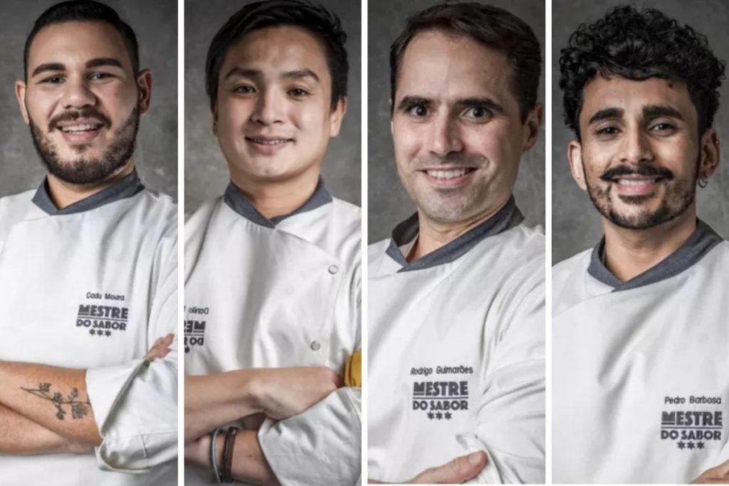 os quatro finalistas mestre do sabor