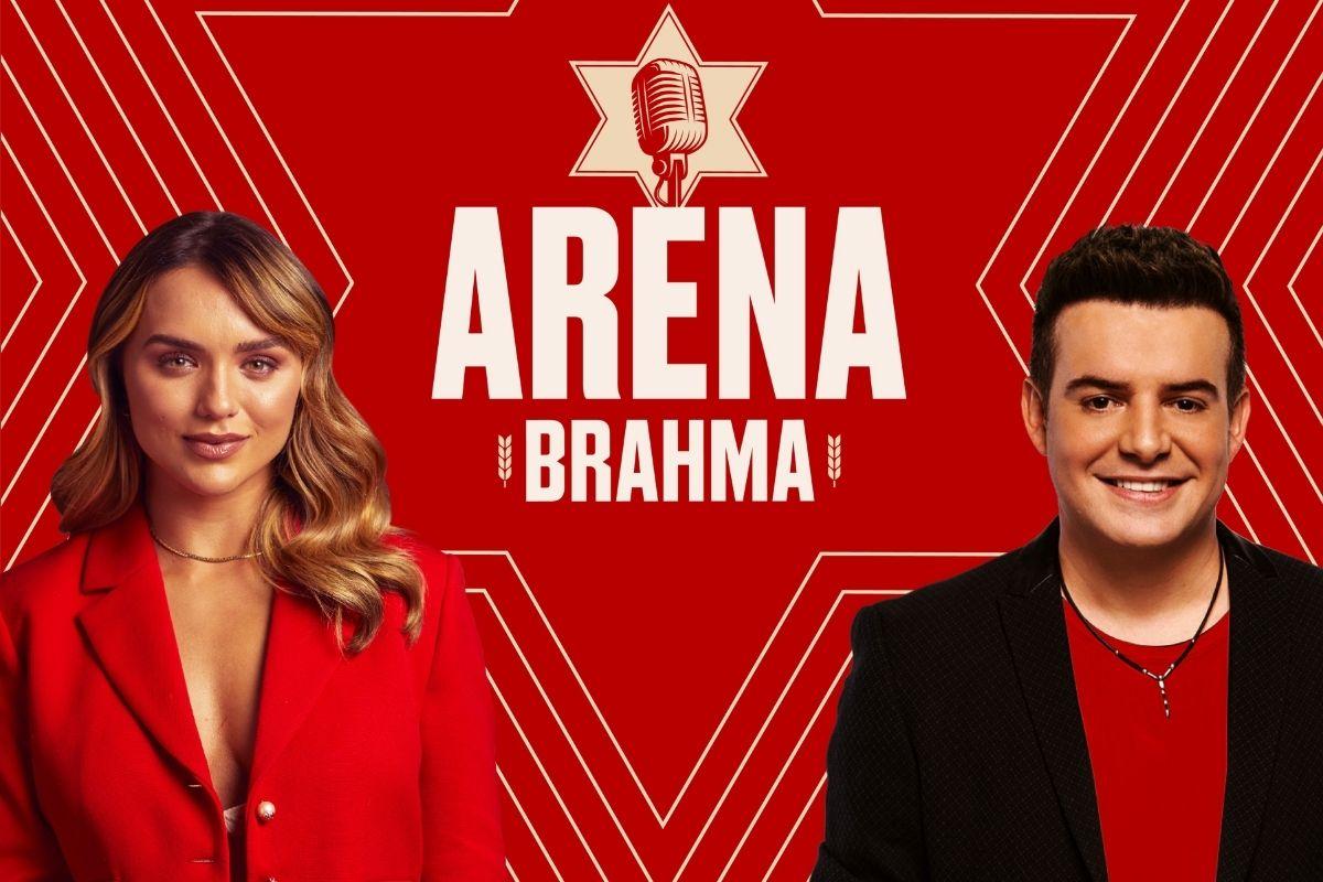 Rafa Kalimann e Belutti na apresentação do Arena Brahma