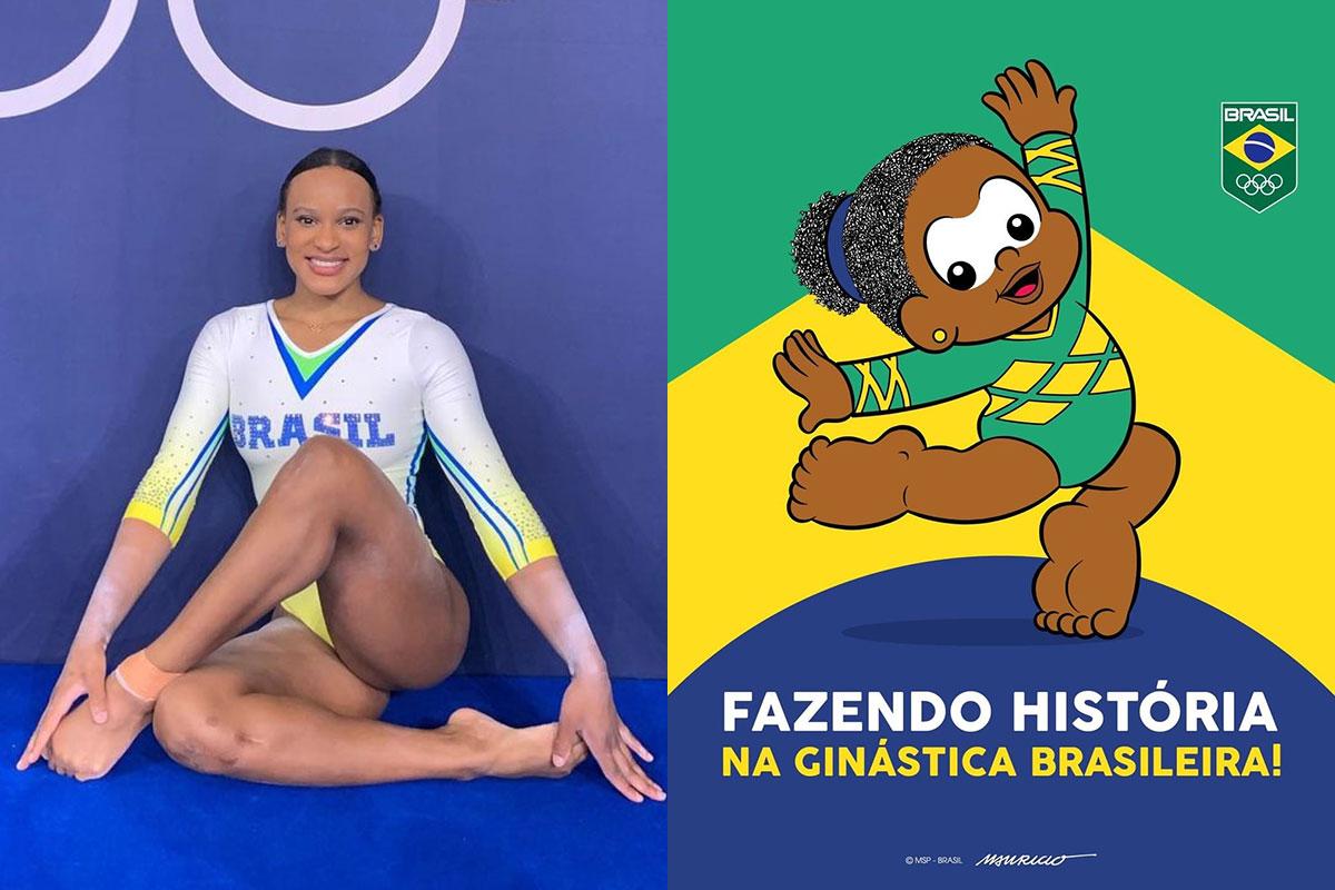 Rebeca Andrade é homenageada pela Turma da Mônica