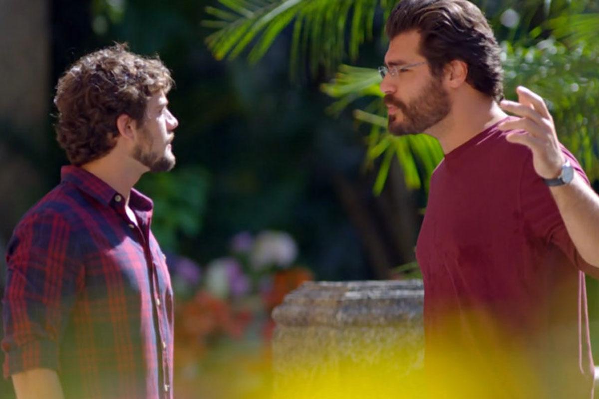 Rodrigo e Lúcio discutem em A Vida da Gente
