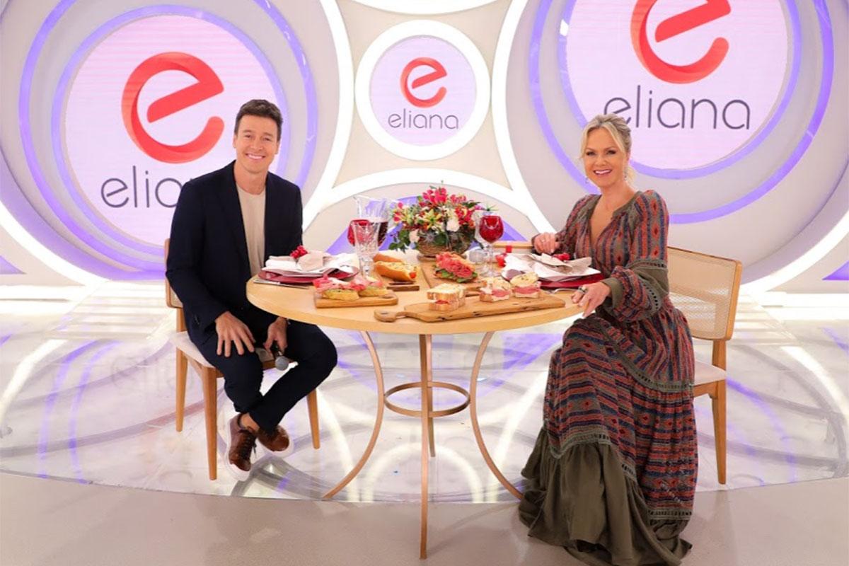 Rodrigo Faro come mortadela com Eliana na TV