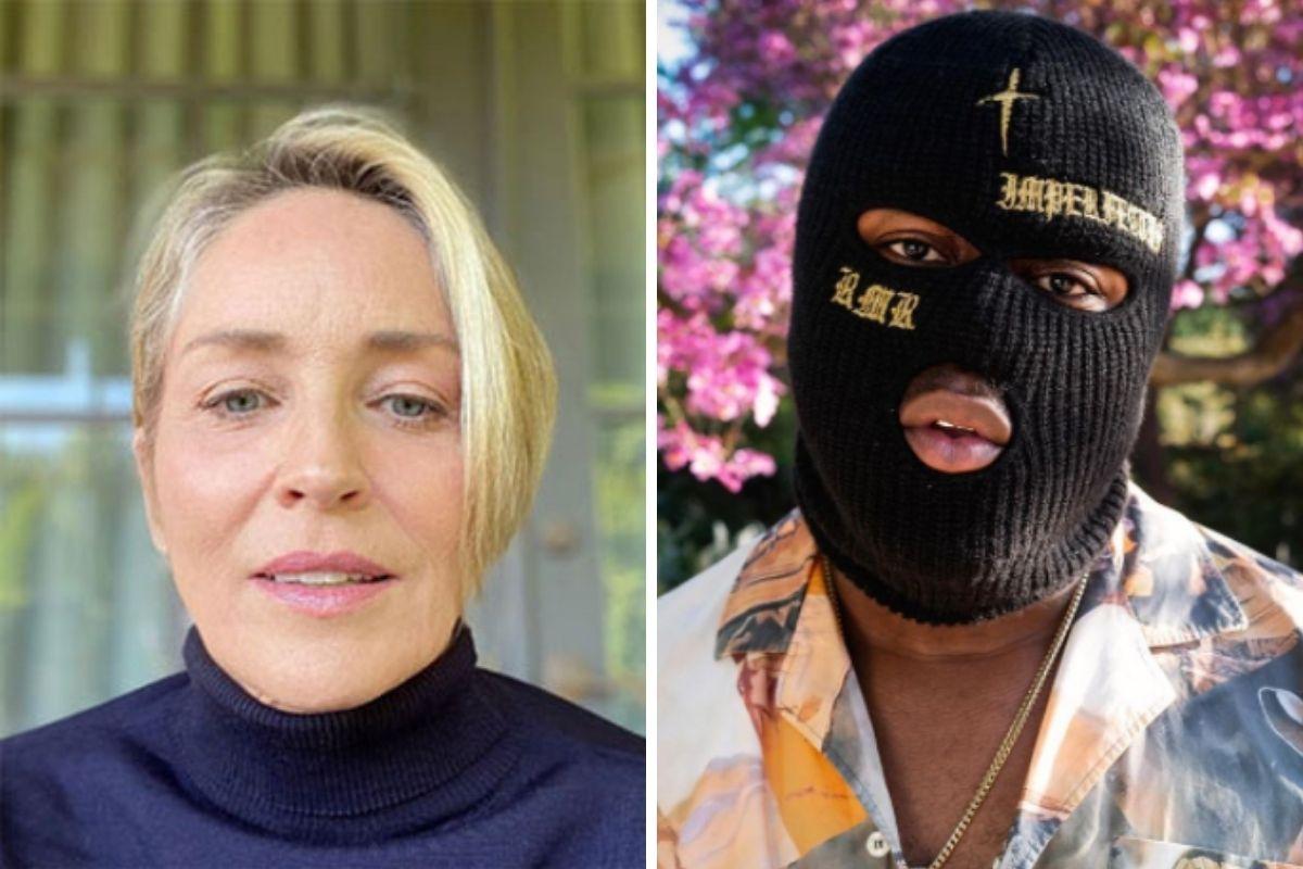 Sharon Stone e o rapper RMR