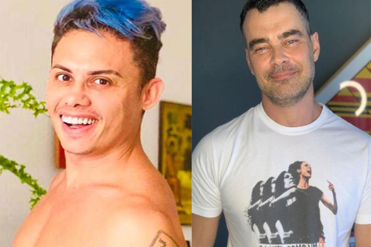 Silvero Pereira usa cabelo azul