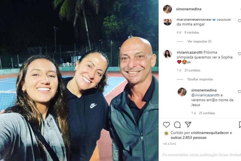 Simone Medina torce para a filha Sophia estar nas próximas Olimpíadas