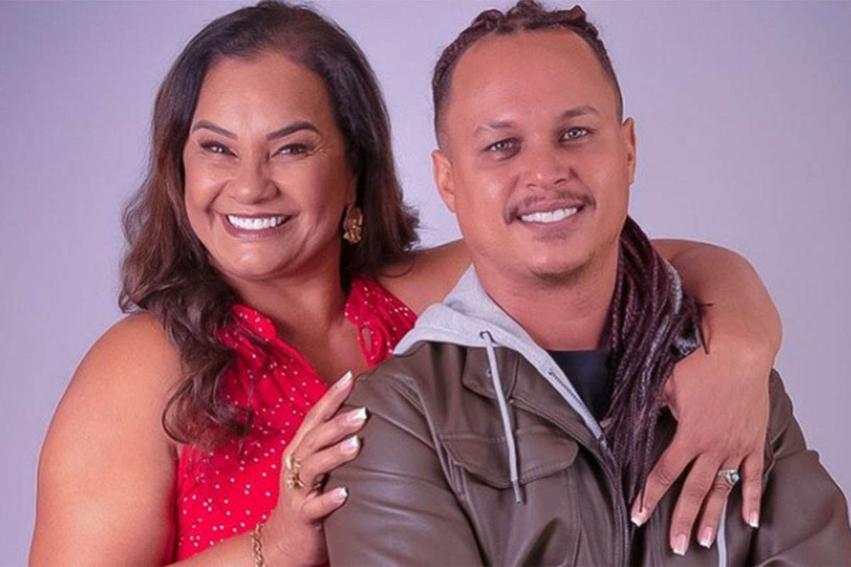 Solange Couto abraçada com o marido Jamerson Andrade