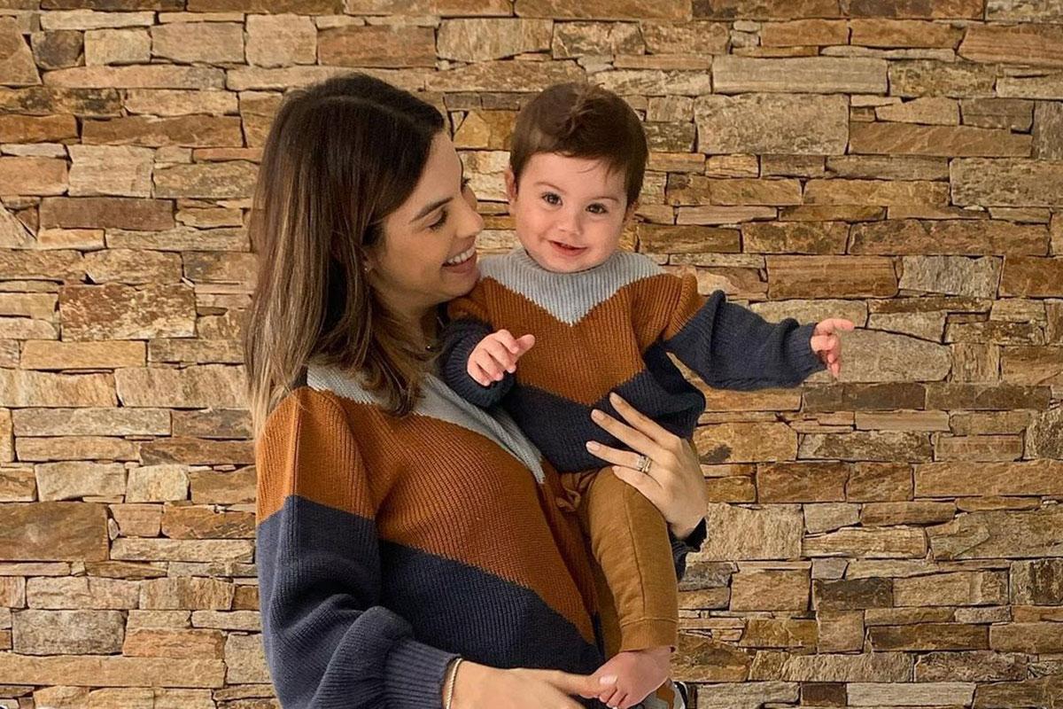 Sthefany Brito combina look com o filho