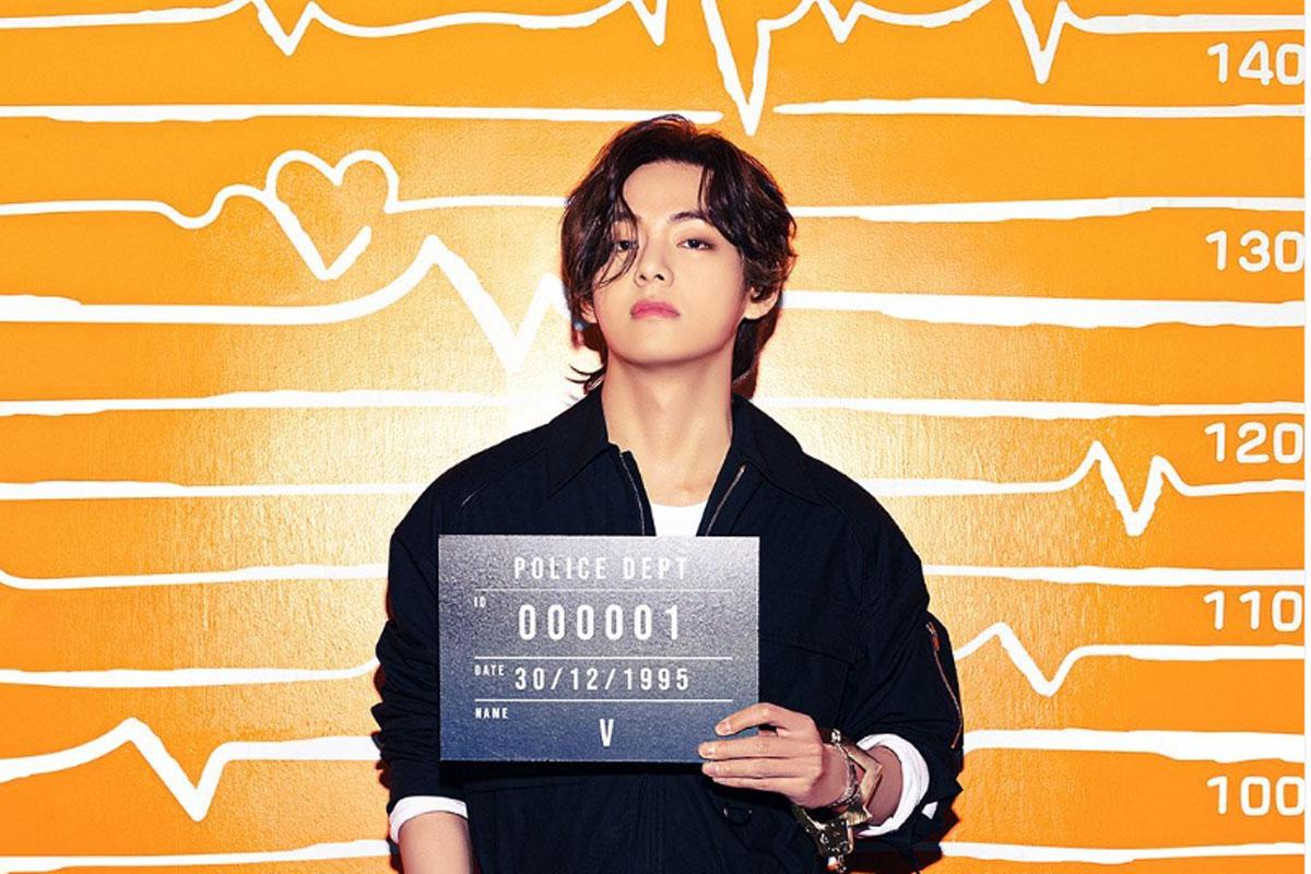 Retrato de Taehyung em foto conceito para o single Butter