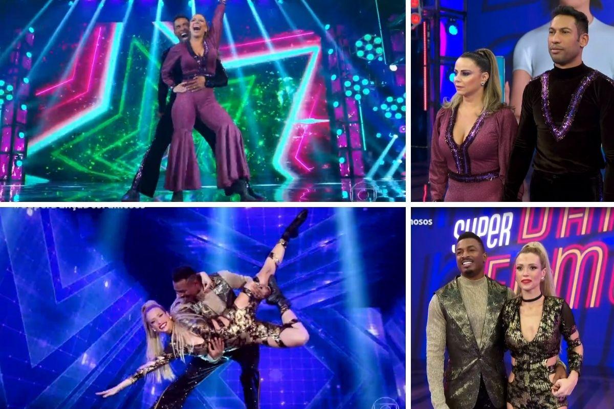 Viviane Araújo e Juliana Didone no Super Dança dos Famosos
