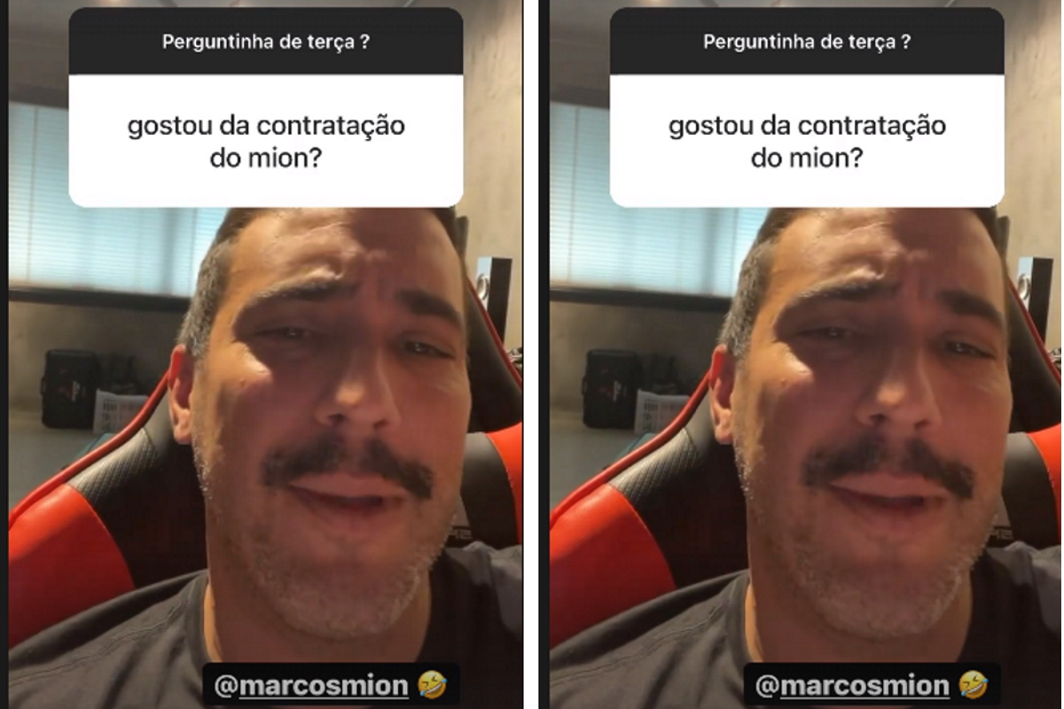 André Marques nos stories
