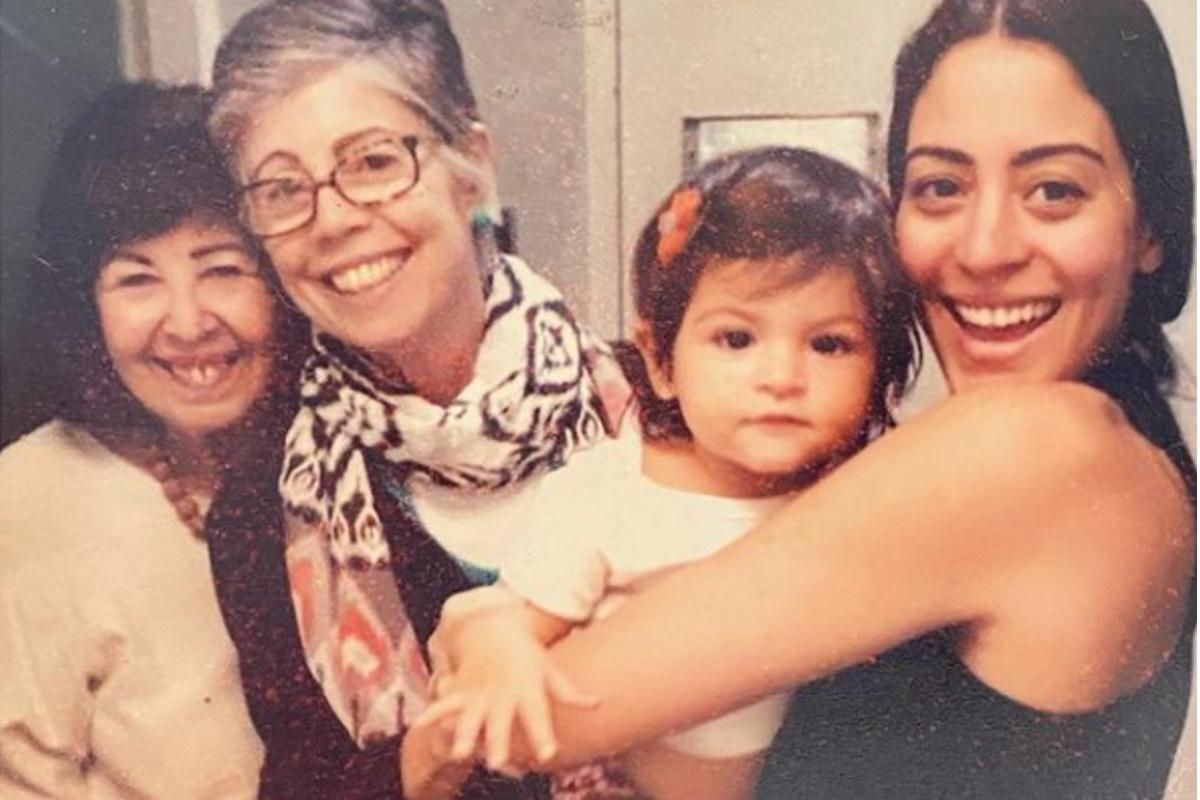 Carol Castro com a familia
