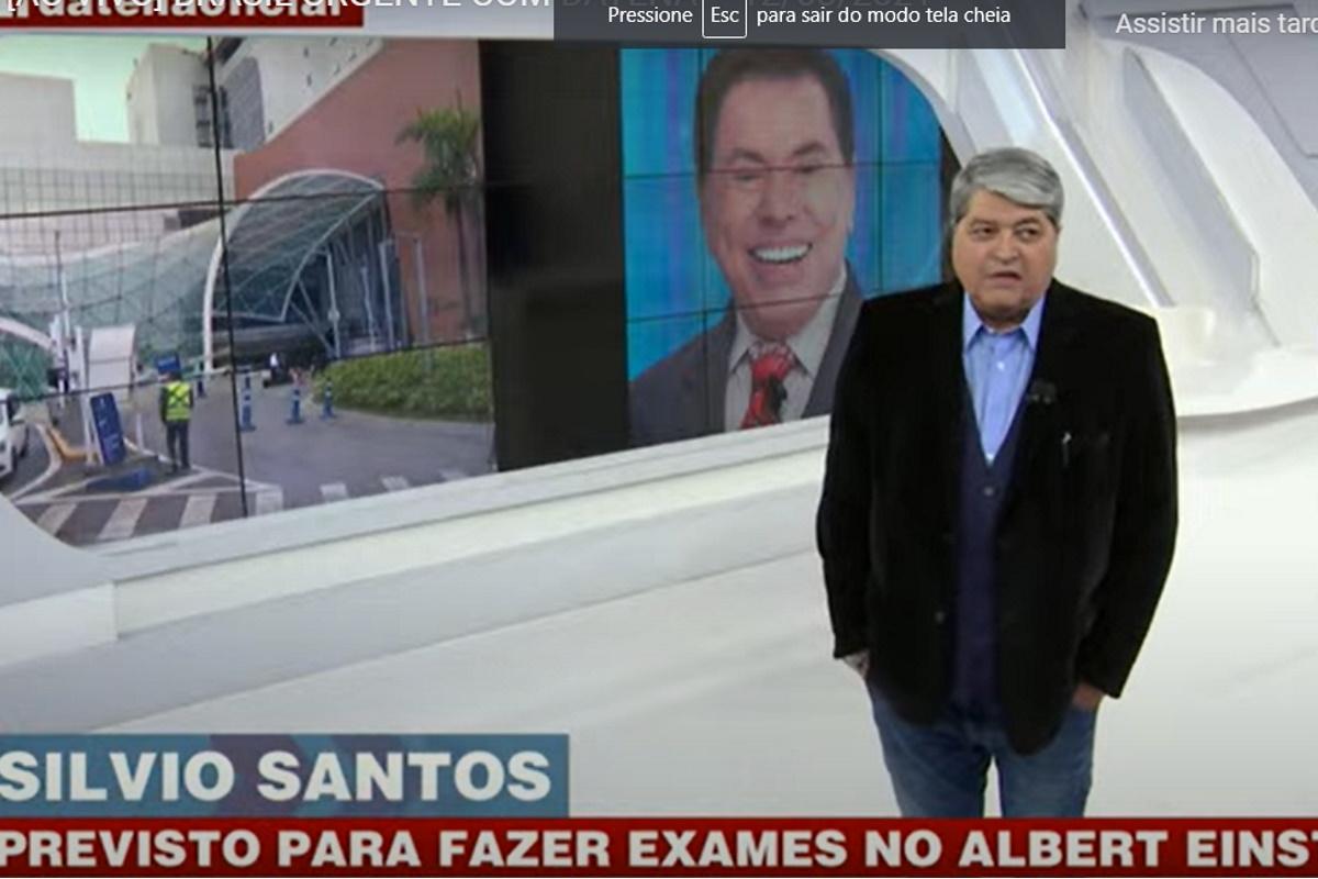 Datena falando de Silvio Santos