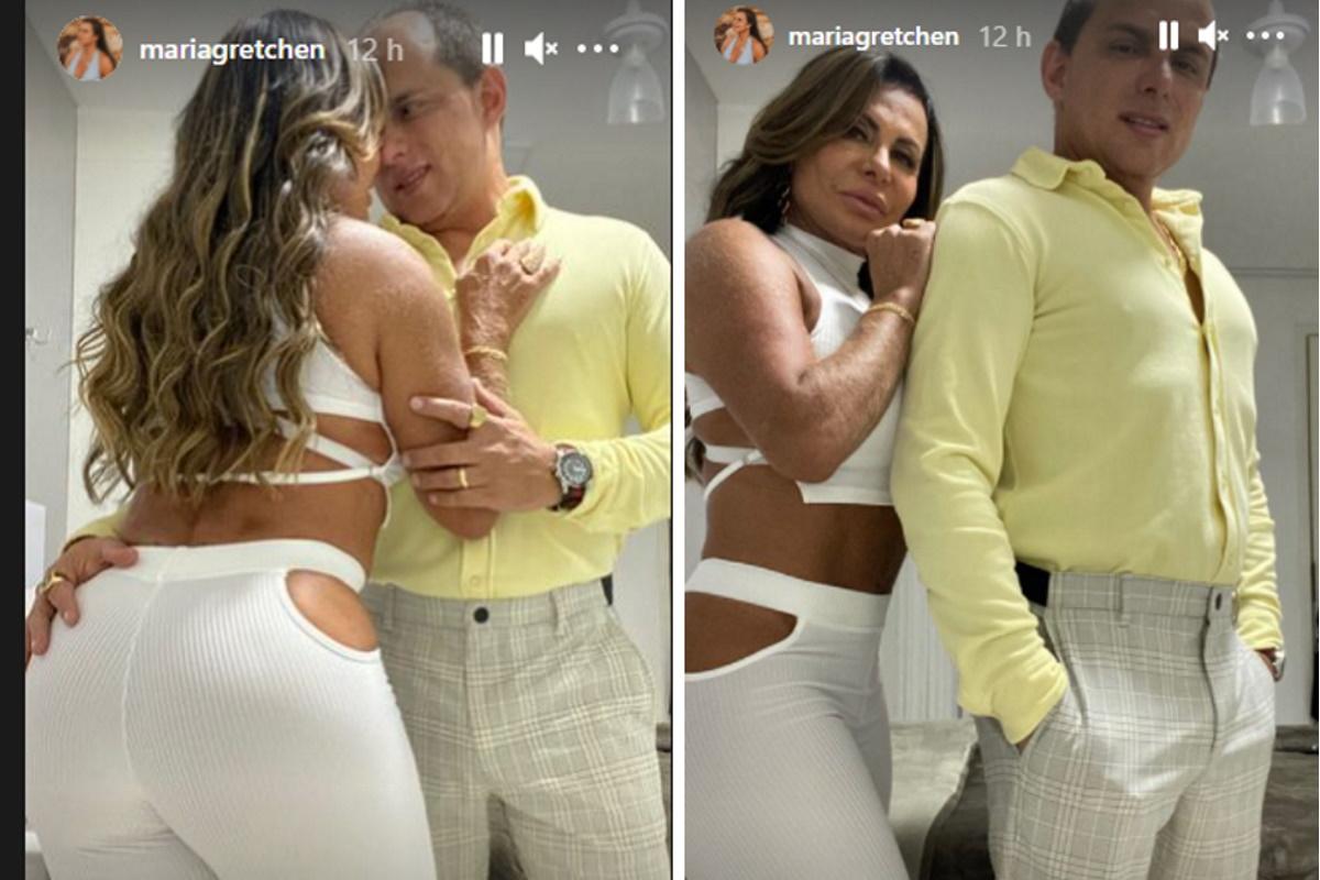Gretchen e o marido fotomontagem