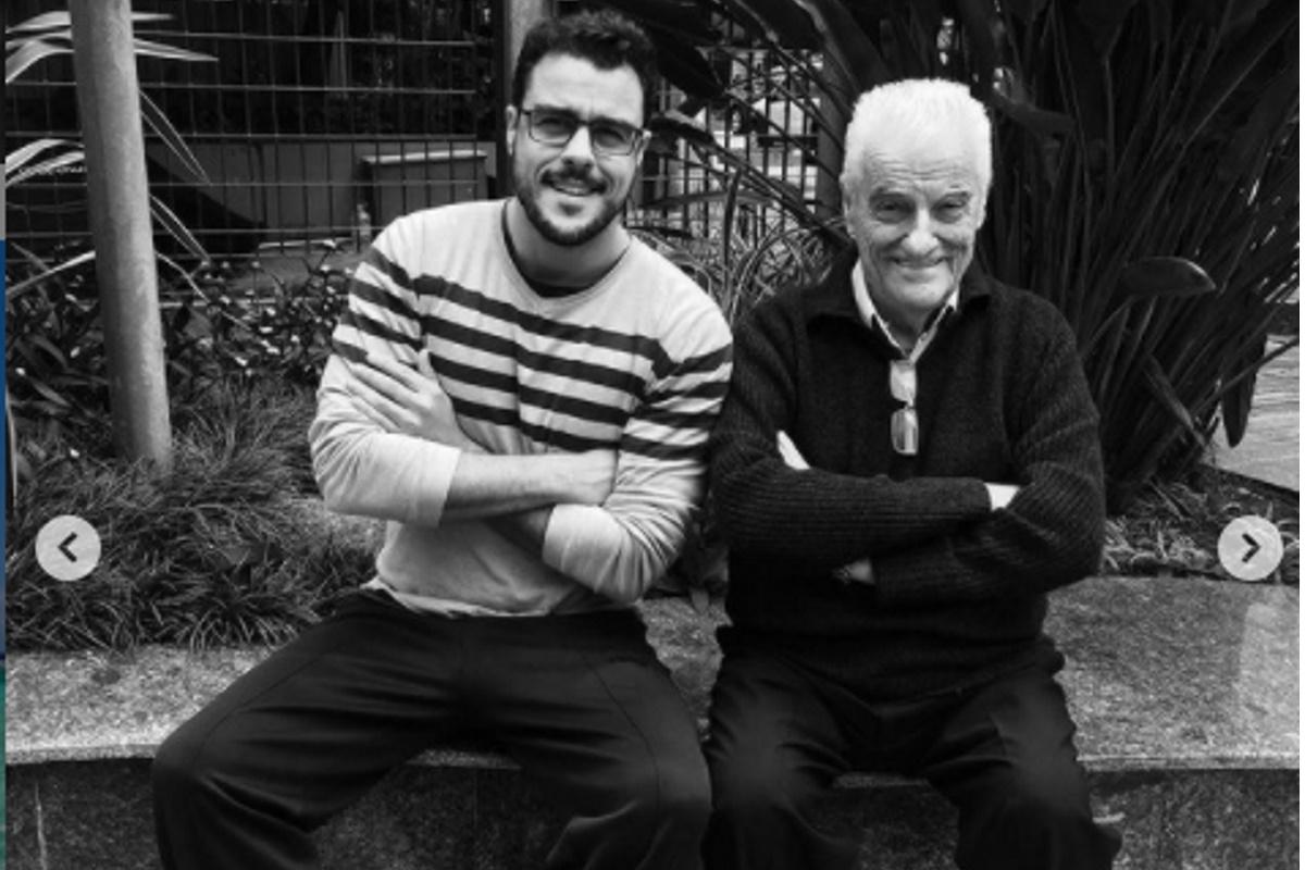 Joaquim Lopes com o pai