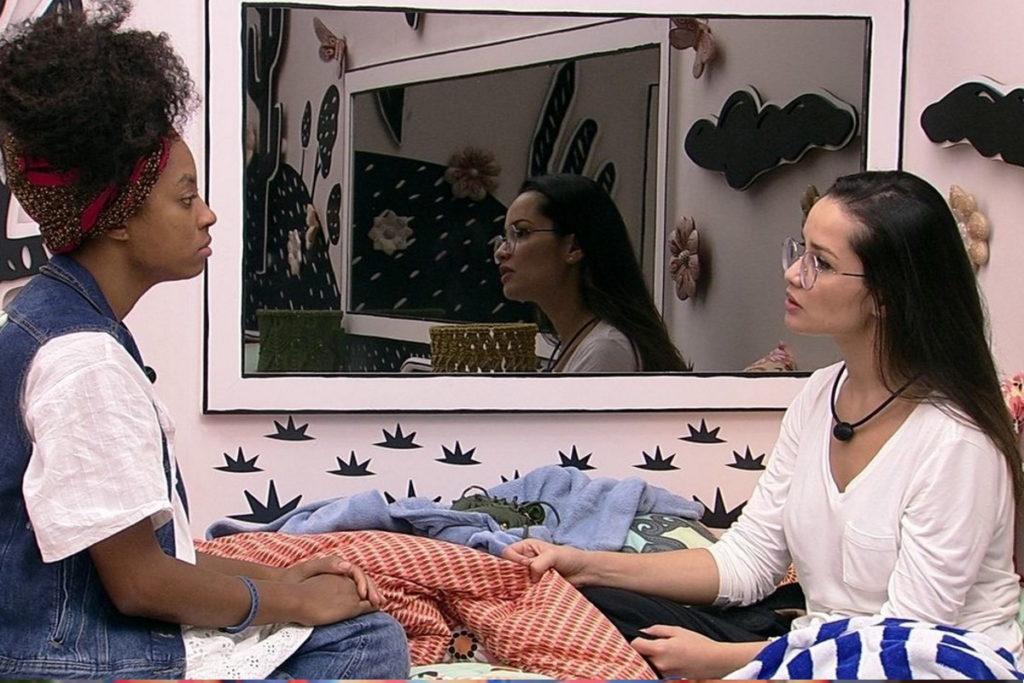Lumena conversando com Juliette no BBB - Foto (Divulgação/TV Globo)