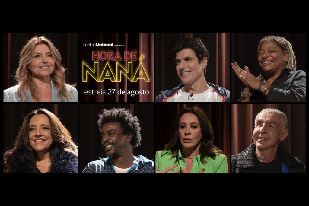 Montagem com fotos dos convidados do programa Hora de Naná