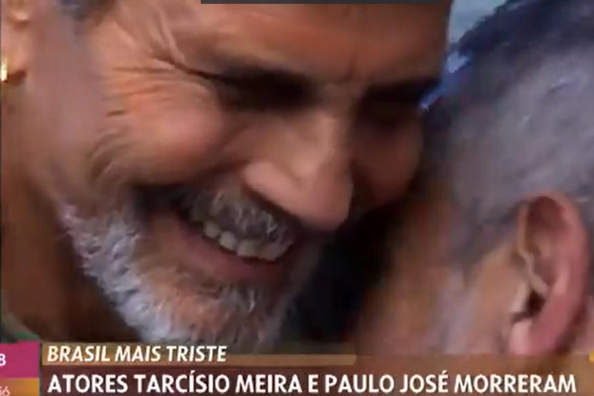Tarcisio Meira abraca Paulo Jose