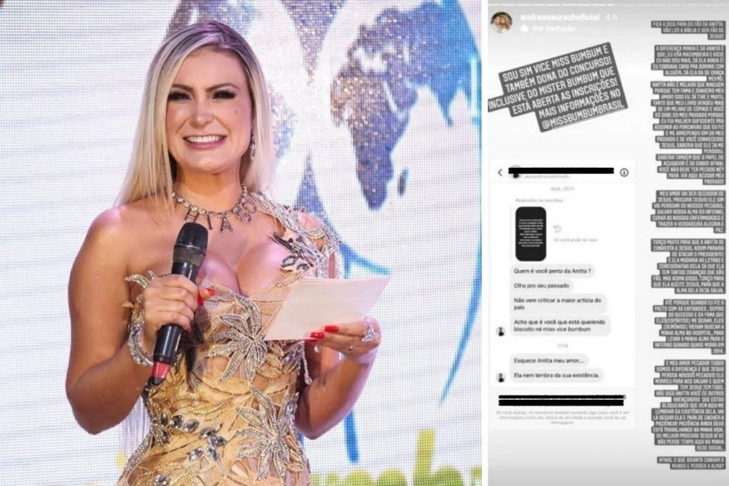 Andressa Urach responde seguidor falando de Anitta