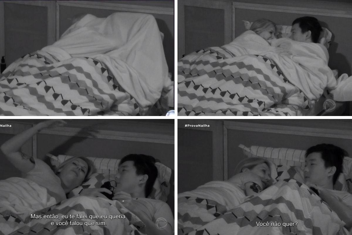 pyong e antonela na cama montagem
