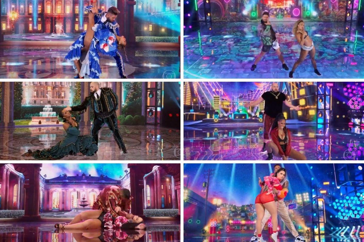 apresentações dos classificados super dança dos famosos montagem