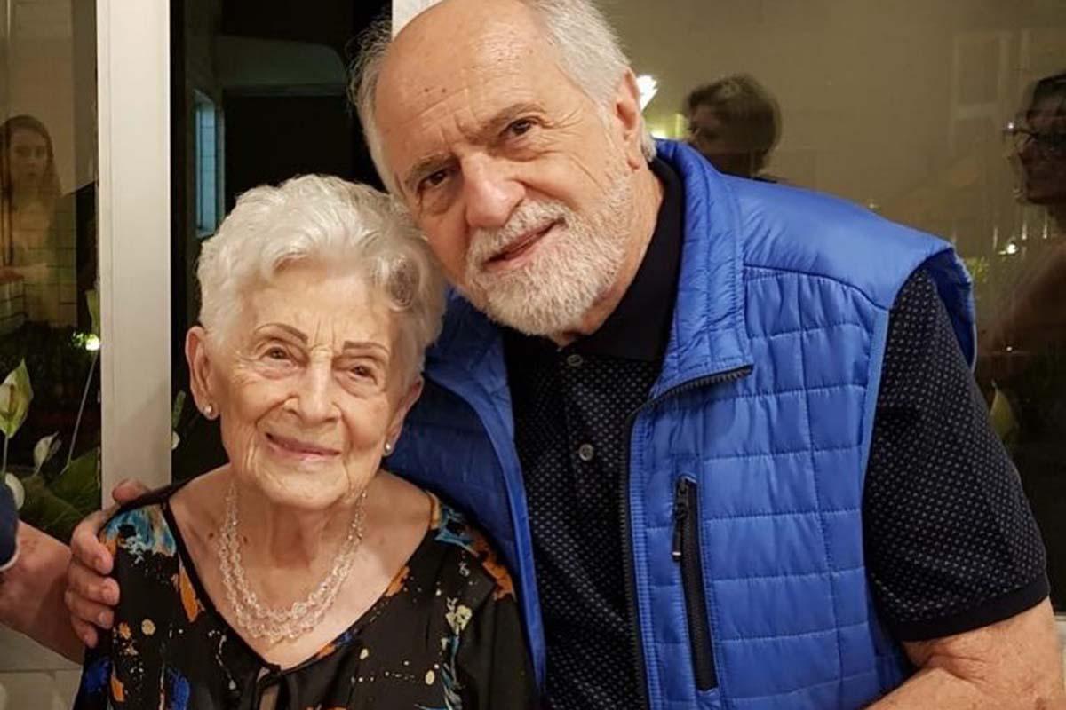 Ary Fontoura com a irmã