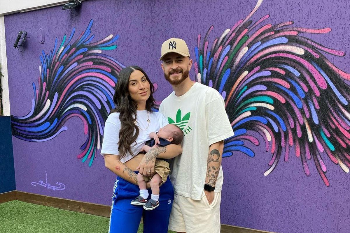 Bianca Andrade com Fred e o filho Cris
