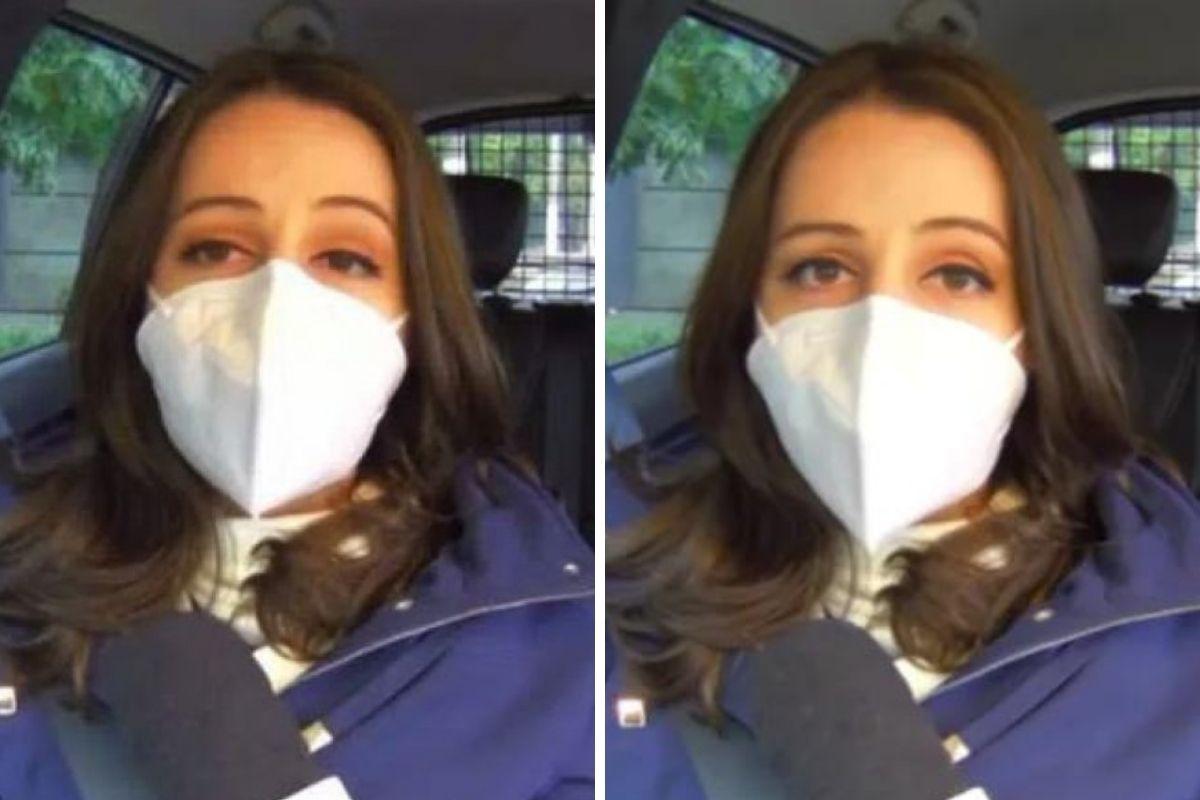 Repórter Carol Ianelli da Globo após sofrer acidente de carro