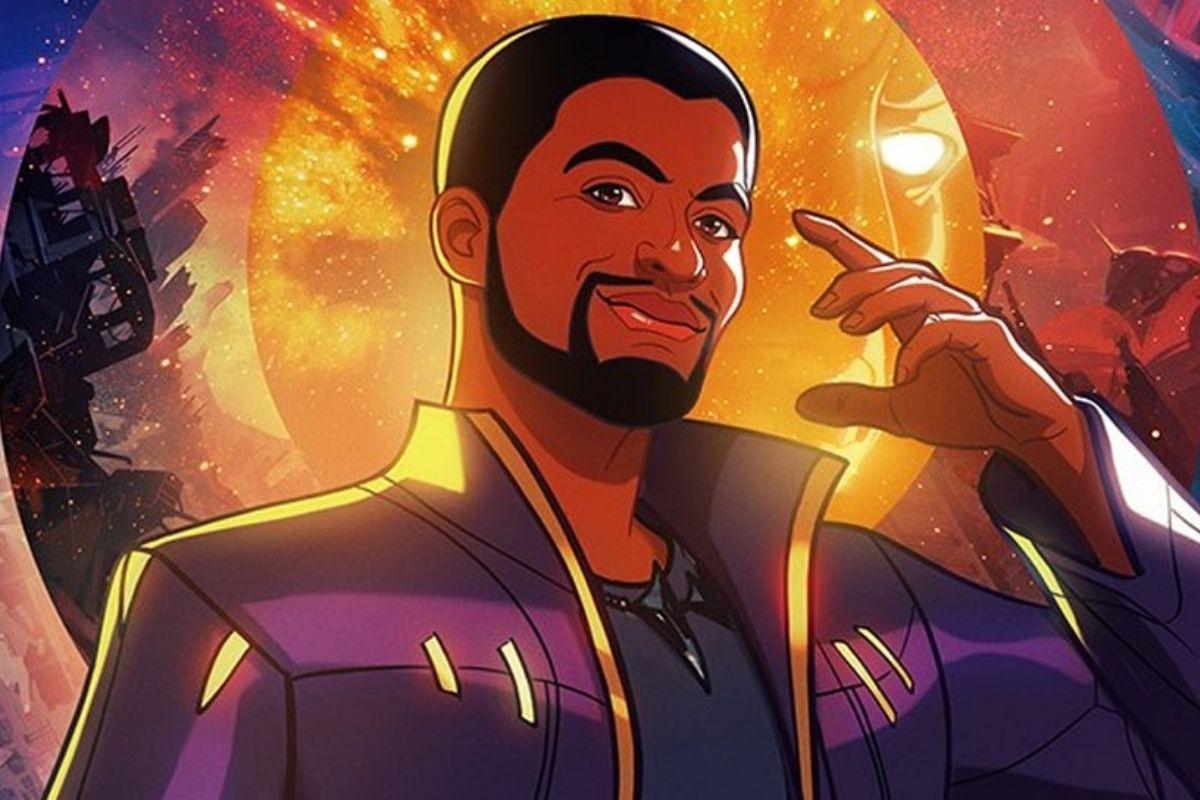 Chadwick Boseman como animação da série What If...?