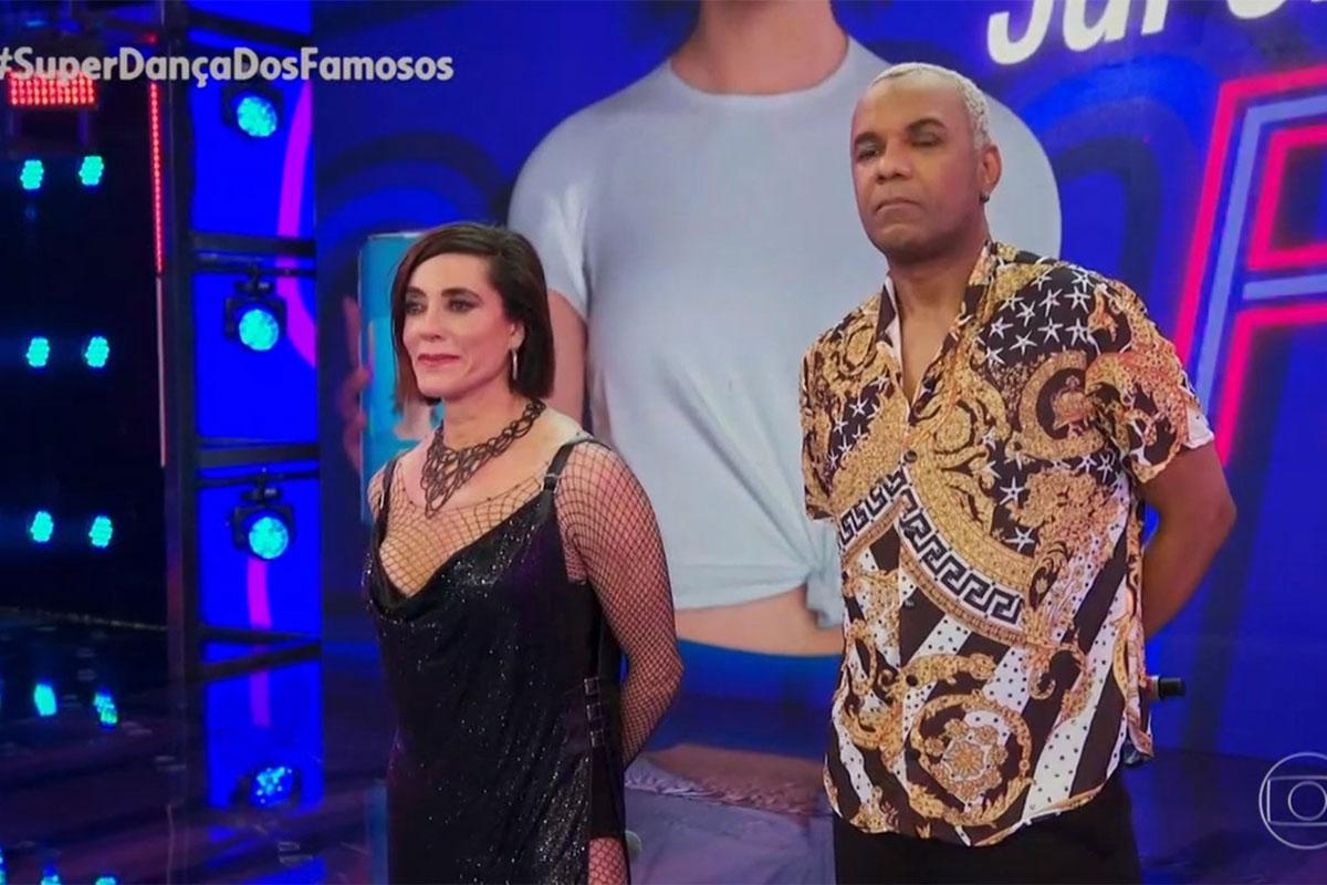 Christiane Torloni no palco do Super Dança dos Famosos