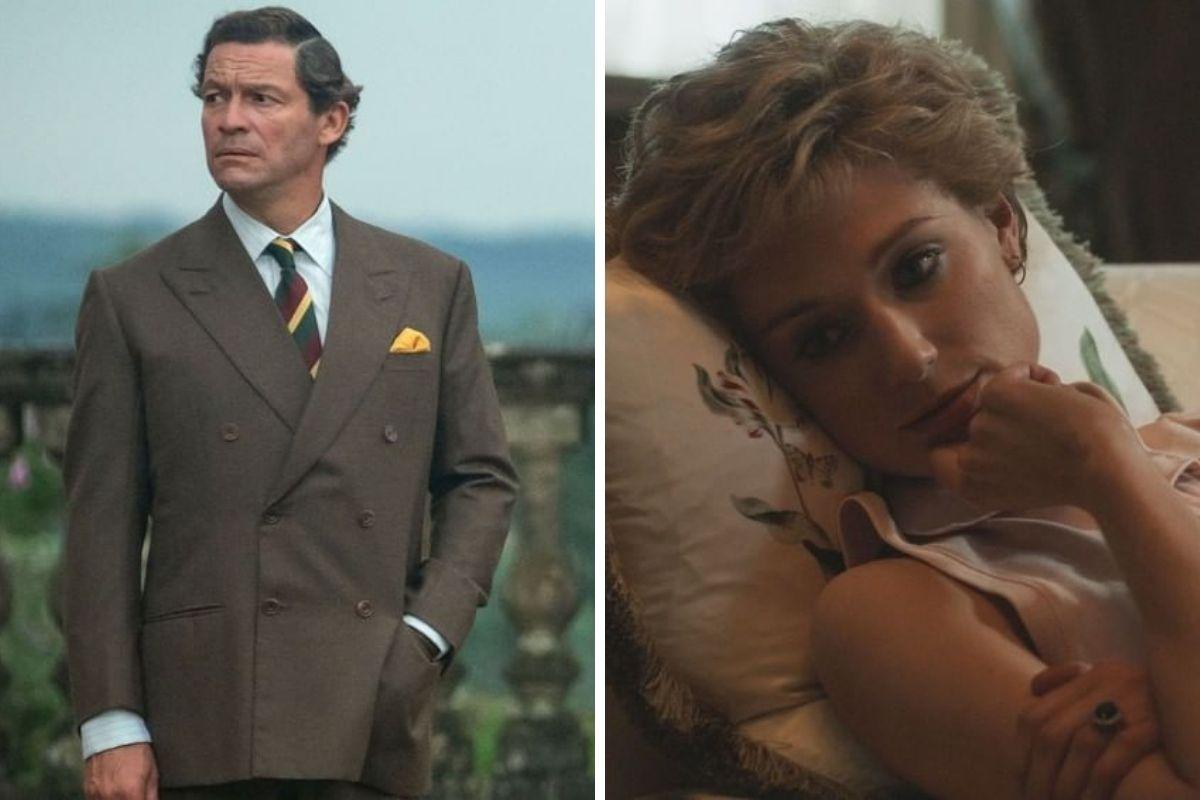 Dominic West e Elizabeth Debicki como Príncipe Charles e Diana