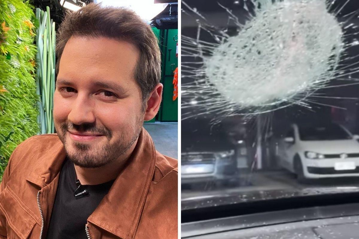 Dony De Nuccio mostra estragos no carro em tentativa de assalto em São Paulo