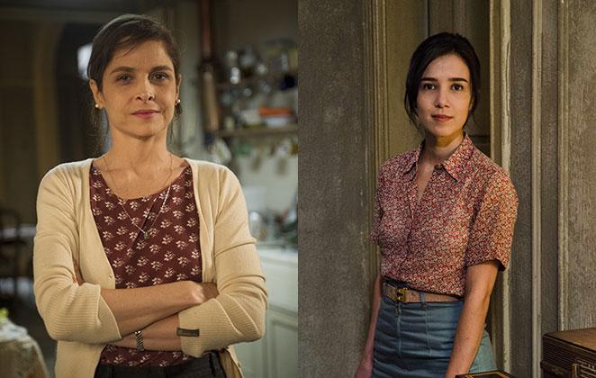 Drica Moraes e Marjorie Estiano como a personagem Cora, de Império